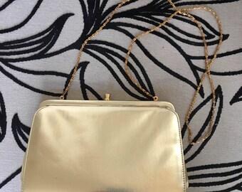 Vintage Jane Shilton Gold Evening Bag - Japelle -1970s