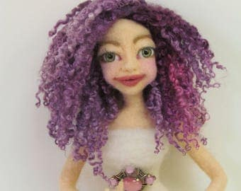 Purple Doll Hair, Doll Hair, Wigging, Reroot, Wensleydale Curly Locks, Hand Dyed Doll Hair, Unicorn Mane, Fantasy Doll Hair, listed 1/2 oz