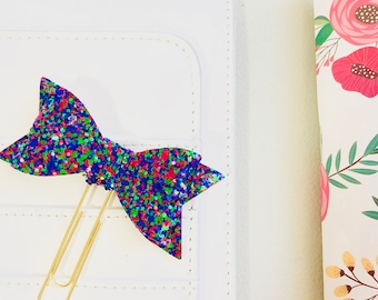 Poppy Planner Clip/ Glitter Clip