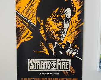 Original Streets Of Fire 1984 Rock N Roll Lane One Sheet Movie Poster