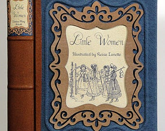 1950 ~ LITTLE WOMEN ~ by Louisa May Alcotte, Illustrated by Reisie Lonette, Restored & Rebound in Leather