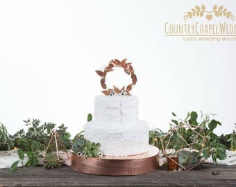SALE! Hammered Copper Cake Stand ~ Copper Wedding Cake Stand ~ Metal Cake Stand ~ Rustic Wedding Cake Stand ~ Industrial Wedding Cake Stand