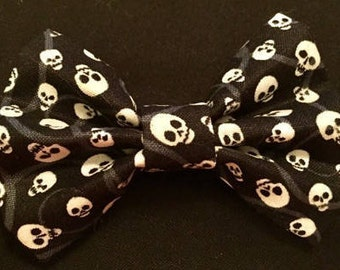 Skull Bow Tie or Hair Bow