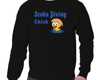 Scuba Diving Chick Sweatshirt