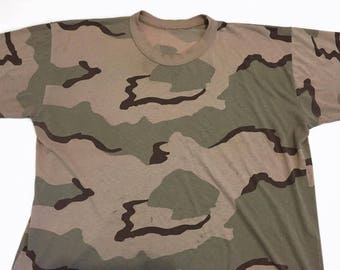 Vintage Extremely Thin Camouflage T Shirt