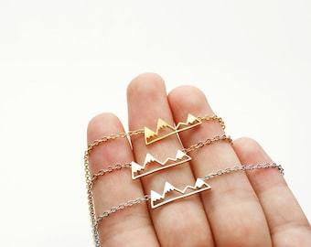 Mountain Necklace adventure mountain charm Boho Jewelry Gift Women - CMN