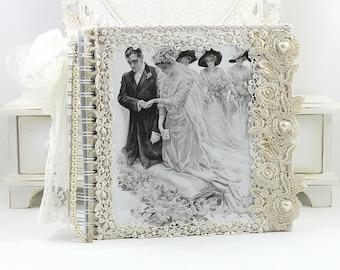 Wedding Photo Album, Scrapbook Photo Album, Wedding Album, Wedding Photo Guest Book, Wedding Keepsake Book, Wedding Memory Book, 8x8