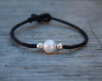 Genuine Pearl Bracelet,Freshwater Pearl Bracelet,Pearl Cord Bracelet,Girl,Woman,Chic,Boho,Yoga,Pearl Bracelet,Gift for Her,Holiday Gift