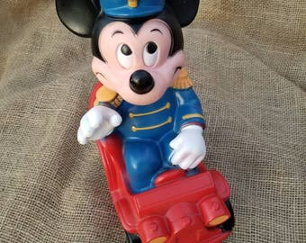 Mickey Mouse Coin Bank  Vintage 1977 Disney Bank