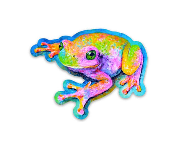 Vinyl Frog Sticker - Laptop Sticker, Frog Decal, Frog Stickers, Frogs, Die Cut Sticker, iPad Sticker, Car Sticker.