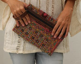 Boho Clutch, Clutch Purse, Clutch Wallet, Boho Wallet, Tribal Clutch, Embroidered Wallet, Womens Clutch, Gift For Her, Valentines Day Gift
