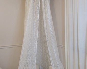 Flower crown lace play canopy white cotton/ hanging tent/ hanging canopy