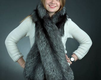 Silver Fox Fur Stole