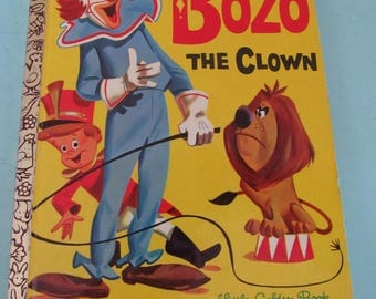 Little Golden Book Bozo the Clown 1961 Free Shipping