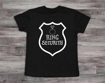 Ring Security Shirt,Ring Bearer T-Shirt, Ring Bearer Gift, Rehearsal dinner shirt, Ring Security badge shirt, Ring Security top