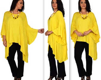 New Comfyplus Oversize Plus size Lagenlook Butterfly sleevs Tunic top. One size 1XL to 6XL
