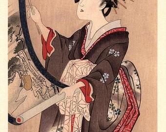 1906, Japanese antique woodblock print, Utagawa Toyokuni, from Ukiyoe-ha-gashu.