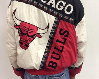 90s Vintage Chicago Bulls Puffy Jacket Pro Player by Daniel Young
