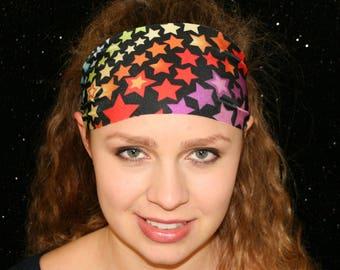 Stellar Headband - Yoga Headband - Sport Headband - Workout Headband - Fitness Headband - Running Headband - Spandex Headband Wide Headband