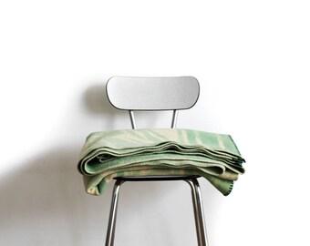Mint Green 100% woolen blanket.