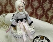 Miniature doll, dollhouse doll, princess doll, OOAK miniatures, handmade mini doll, Christmas gift for her, special gift, tender gift