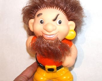 Soviet Toy Rubber, Rare Toy,  Pirate toy New Old Stock Collectible Toy Made in USSR Russian Vintage Squeaky Toy Big Rubber Toys Gift for kid