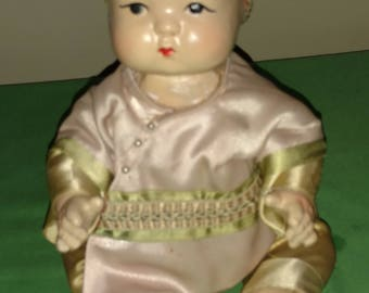 """Adorable 1930's Composition Doll """" Ming Ming"""""""
