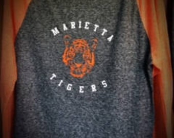 Marietta Tigers Burnout Long Sleeve Shirt