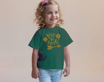 Wee Bit Irish Green Rabbit Skins 2T 3T 4T Green Shirt Toddler Kid T Shirt Top Tee T-Shirt Funny St. Patrick's Day Leprechaun Funny Girl Boy