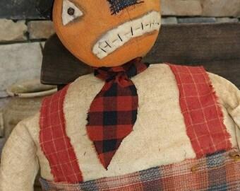 Primitive Pumpkin Jack JOL Pumpkin man Fall decor Pumpkin doll Halloween Faap Hafair Haha