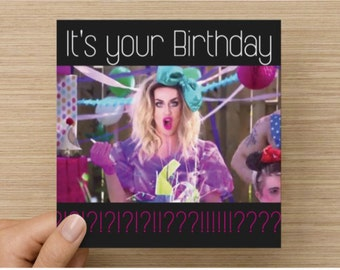 Adore Delano - Party - Birthday Card - Rupaul's Drag Race