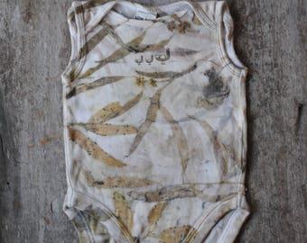 Australian baby jumpsuit // size 00 // eucalyptus, gum leaves // australiana