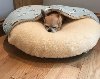 Round Burrow Dog Bed
