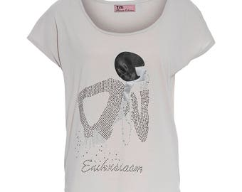 Women's T-shirt, short sleeve   , Printed T - shirt, Size One size fit to size S-L