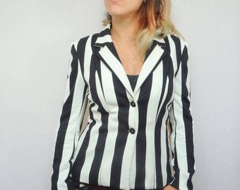 Jacket woman beetlejuice Pinstripe suit