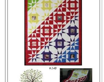 Digital Photo Quilt Pattern - Rainbows