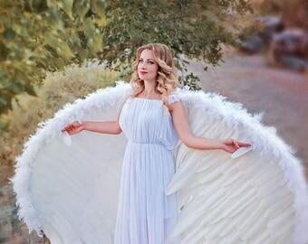 Giant  White Angel Cosplay Wings