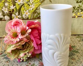Rosenthal Vase Rosenthal China Rosenthal Studio Line Porcelain Vase Mid Century Vase White Vase Rosenthal Studio Wave Flower Vase Vintage