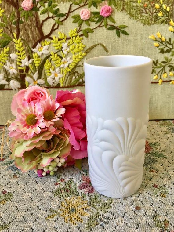 Rosenthal China Rosenthal Studio Line Rosenthal Vase Porcelain Vase Mid Century Vase White Vase Rosenthal Studio Wave Flower Vase Vintage