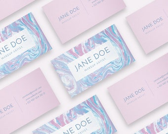 Marble Business Card, Business Card Design, Business Card, Calling Cards, Personal Card, Pink Business Card, Marble Cards, Printable Card