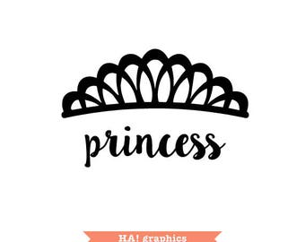 Crown, Tiara, Princess, Queen, King, Prince, Silhouette Cameo, Clipart, Vector, Instant Download, PNG, SVG and DXF File