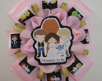 Pink Star Wars Baby Shower Mommy to Be Corsage