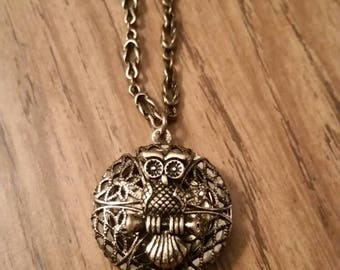 Vintage Look Owl Locket