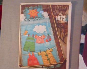 Little Vogue Vintage Baby's Quilt Pattern, NOS, uncut