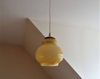 Lamp ceiling design 1970 glass lamp-ochre pendant illuminati10/seventies
