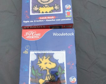 Latch Hook J & P Coats Charlie Brown and Woodstock 50th Anniversary Peanuts NOS in Sealed Boxes
