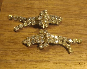 Stunning Rhinestone Shoe Clips~ with Dangling bits!