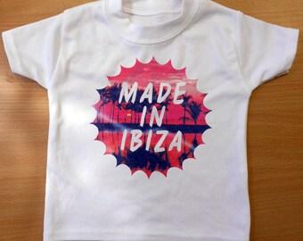 MADE IN IBIZA Baby/Toddler T-Shirt - Fun Ibiza Baby T-Shirt