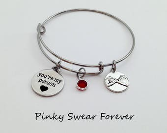 Anniversary Gifts for Women, Greys Anatomy Youre My Person Bracelet, Anniversary Gifts for Girlfriend, Pinky Promise, Wife, Best Friend Gift
