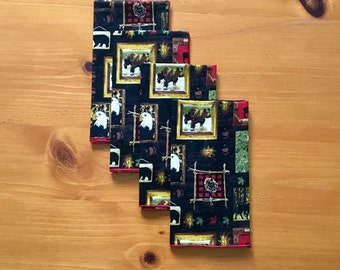 Rustic Lodge Napkins - set of 4